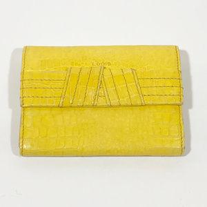 LODIS Yellow Croc Pattern Leather Wallet